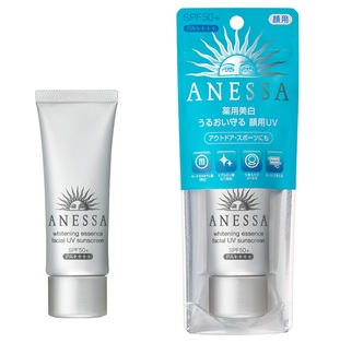 Санскрин для лица для активного отдыха SPF50+ PA++++, Anessа whitening essence facial UV sunscreen Shiseido