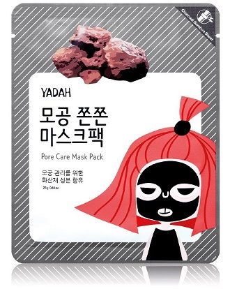 Маска для лица тканевая от расширенных пор, Pore Care Mask Pack Yadah
