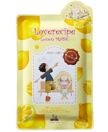 Осветляющая маска для лица с экстрактом лимона Loverecipe Lemon Mask, Sally's Box