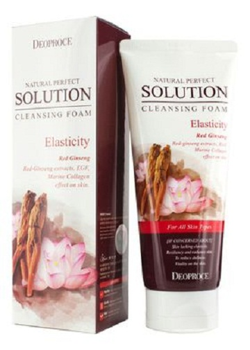 Пенка для умывания с женьшенем Natural Perfect Solution Cleansing Foam Elasticity, Deoproce