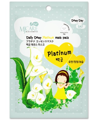 Маска тканевая с платиной MJ DEWY Platinum Mask, Mijin