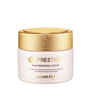 Крем для лица Престиж с муцином улитки и EGF, Prestige Snail EGF Repairing Cream, Secret Key