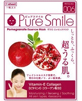 Антиоксидантная маска для лица с эссенцией граната Pomegranate Essence mask Pure Smile