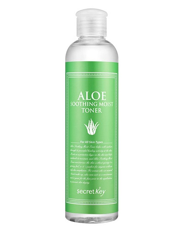 Тонер для лица с экстрактом алоэ Aloe Soothing Moist Toner, Secret Key