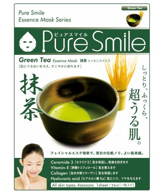 Антиоксидантная маска для лица с зеленым чаем Green Tea Essence Mask Pure Smile