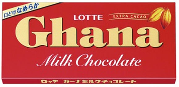 Молочный шоколад Ghana milk chocolate Lotte