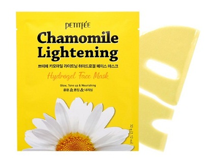 Гидрогелевая маска с экстрактом ромашки Chamomile Lightening, Petitfee